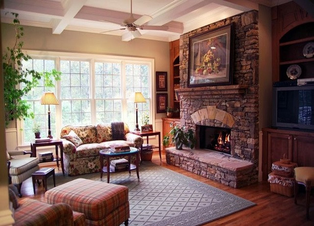 English country style living room